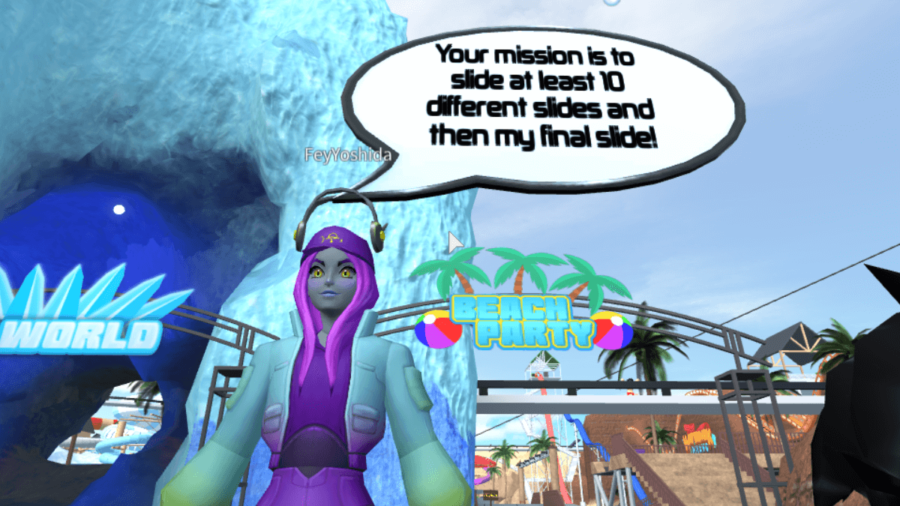 Fey's challenge in Waterpark Oceanic.