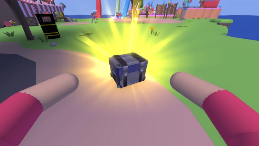 Grabbing AJs drop crate in Human Simulator.