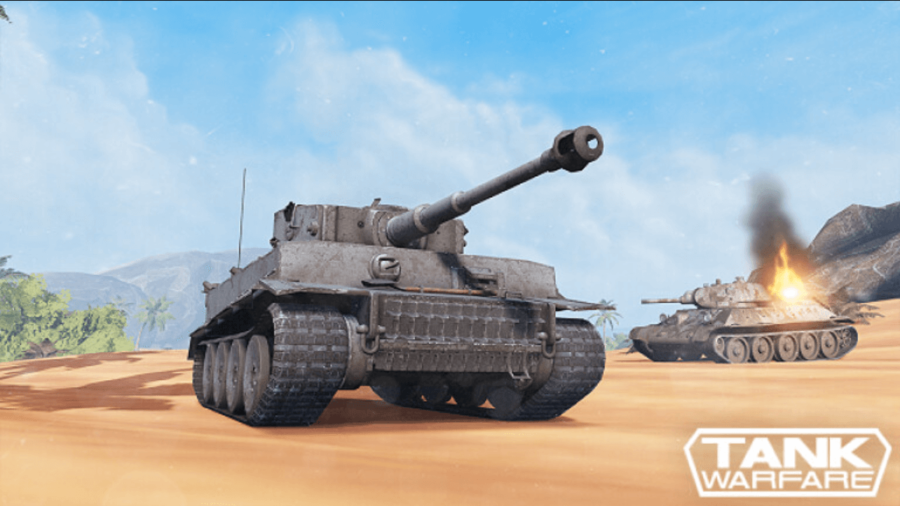 Tank Warfare Roblox Game.