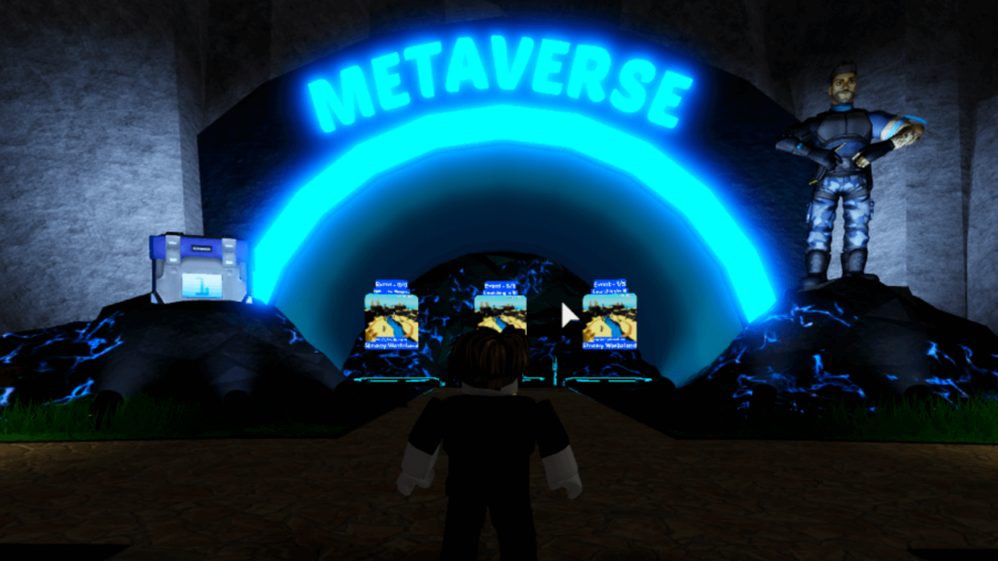 The Metaverse area in Cube Defense.