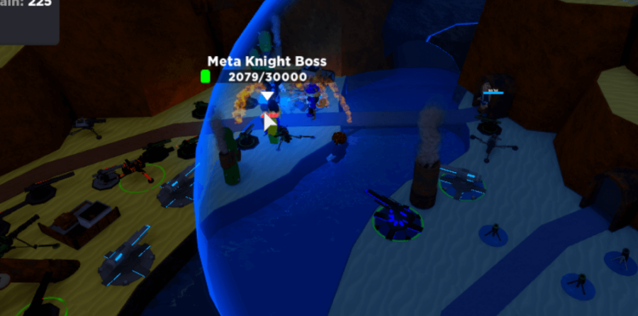 The metaverse boss in Cube Defense.