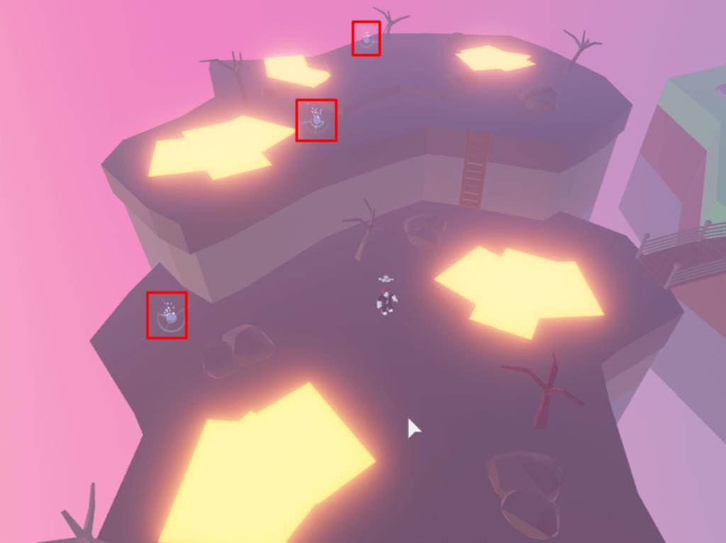 Lava area object locations in TTD3.