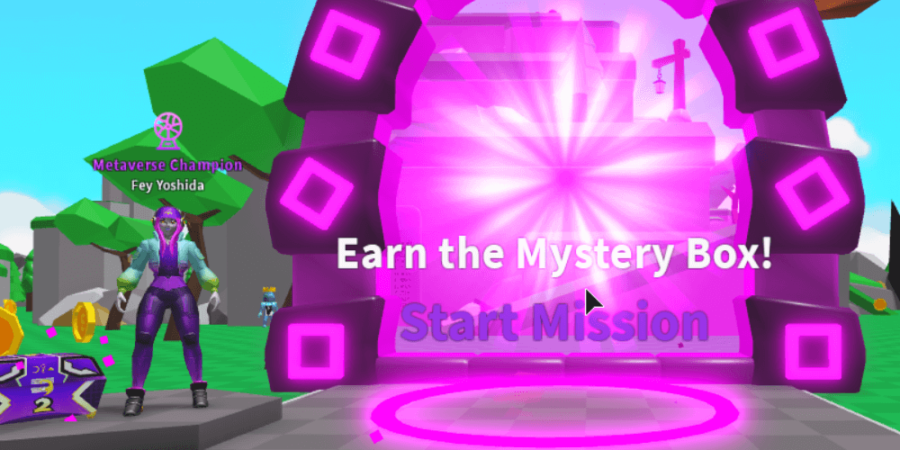 Where to enter the metaverse event in Saber Simulator.