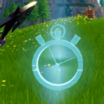 A time trial icon in Fortnite.
