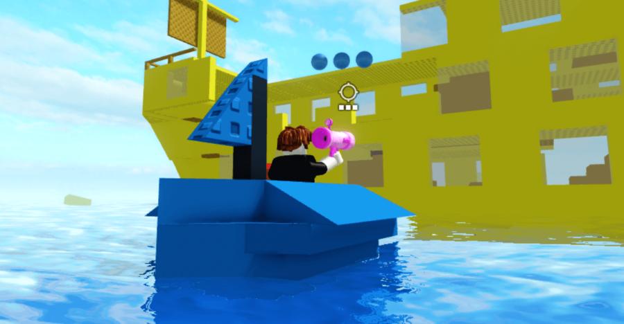Firing Sparks gun in pilfering pirates.