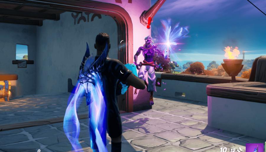 Fighting Raz in Fortnite