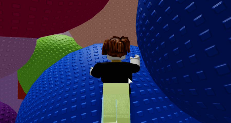 Jumping in the Roblox game Balls.