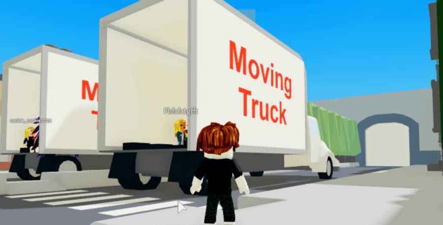 A moving truck in Break in story.