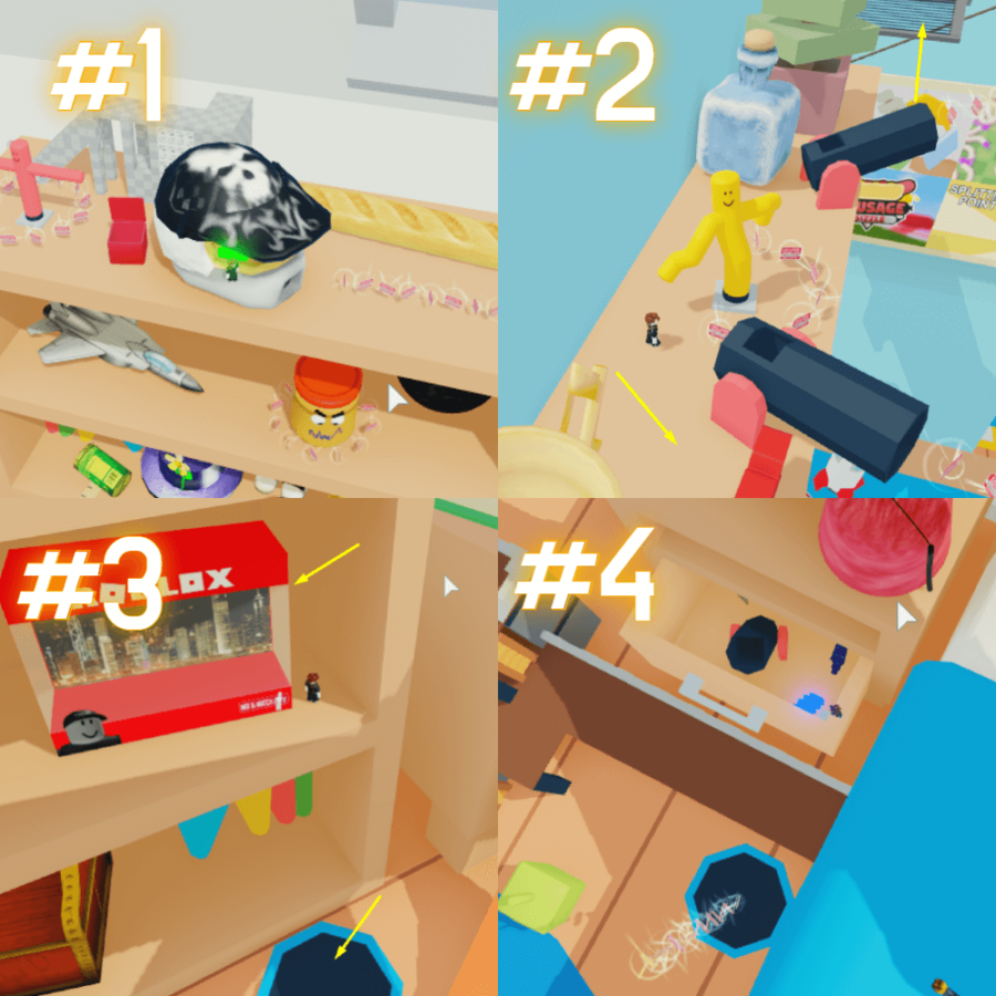 Where to find all the egg pieces in Be a Toy.