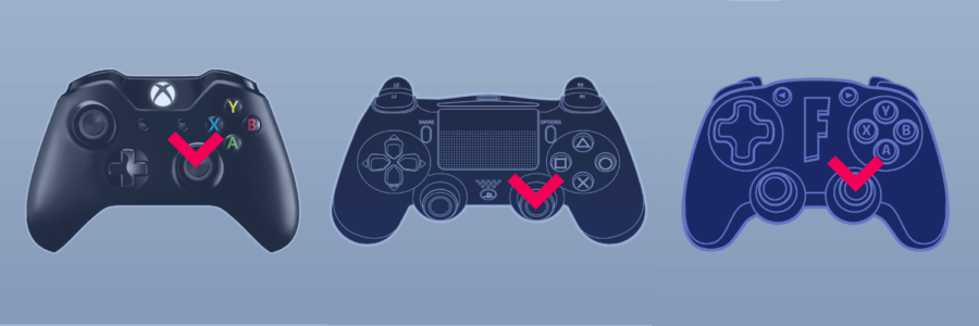 The right control stick on controller in Fortnite.