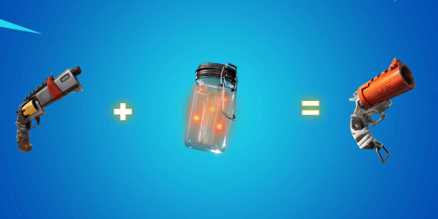 Makeshift pistol plus firefly jar.