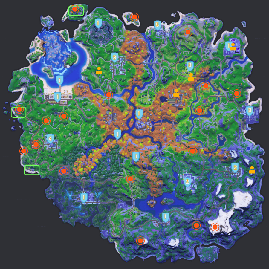 Fortnite C2S6W5 Cheat Sheet Map.