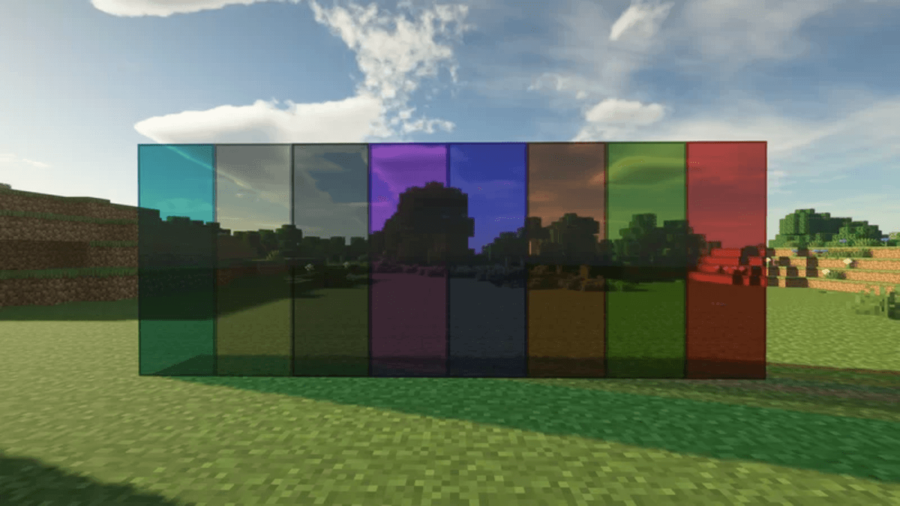 Clear Glass Minecraft texture pack.