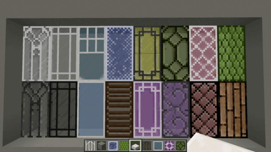 Framed Glass Minecraft texture pack.