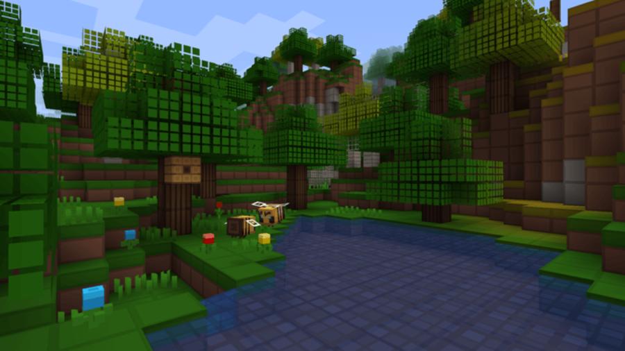 Grid Pixels Texture pack in Minecraft.