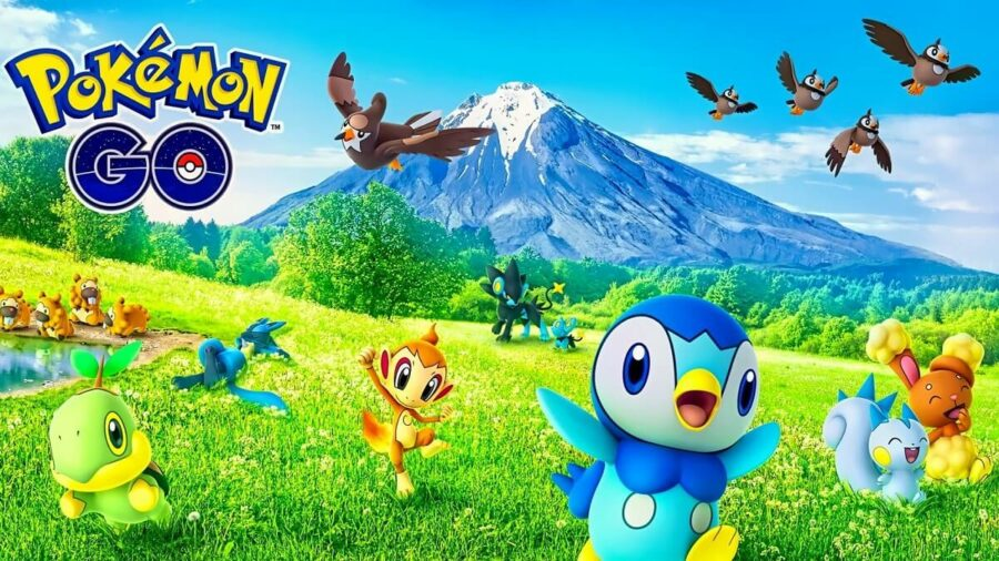 Several small Pokemon in Pokemon Go.