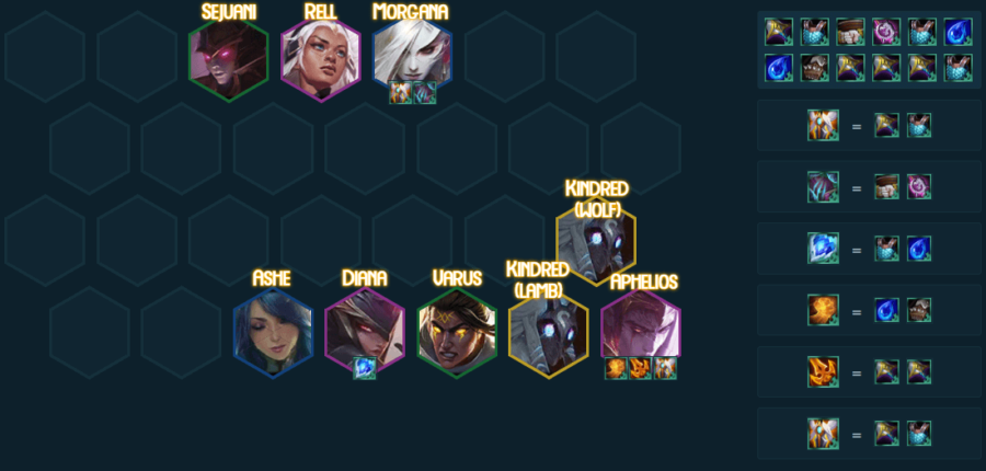 Nightbringer team comp in TFT 5.0