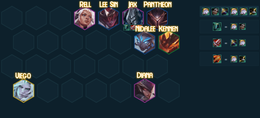 Skirmisher teamp comp in TFT 5.0.