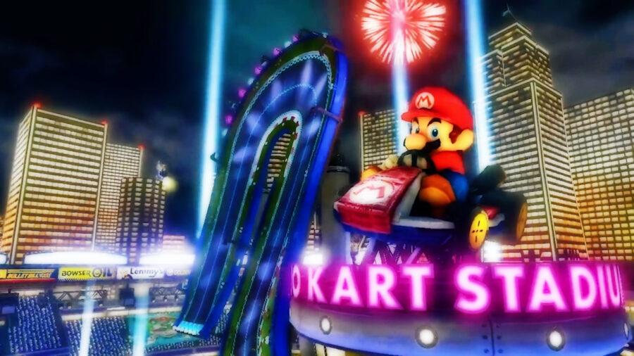 Screenshot of Mario Kart 8 Deluxe gameplay