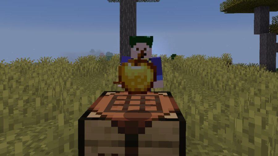 A Minecraft Enchanted Golden Apple.