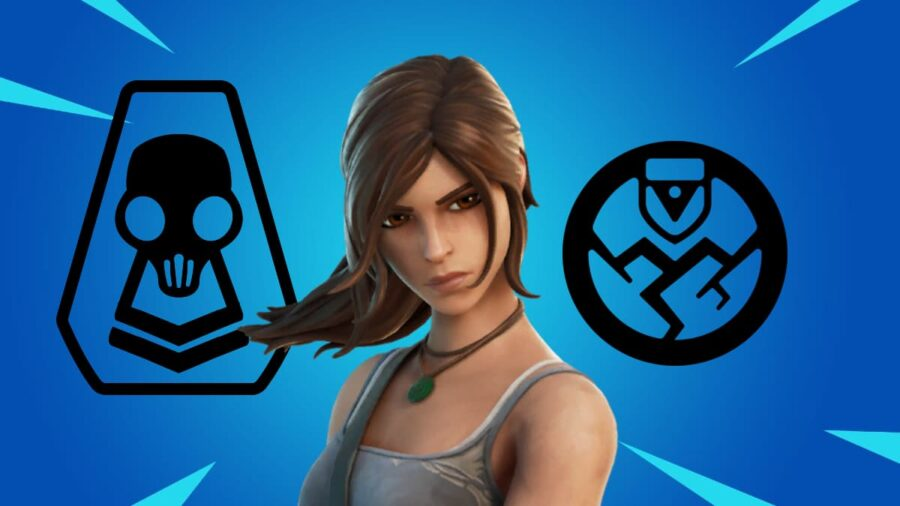 Lara Croft with the Ghost and Shadow Icons.