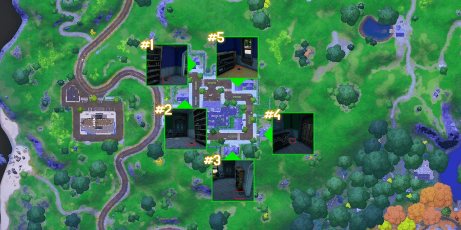 The research book locations in Holly Hedges.