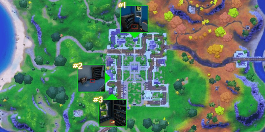 The research book locations in Pleasant Park.
