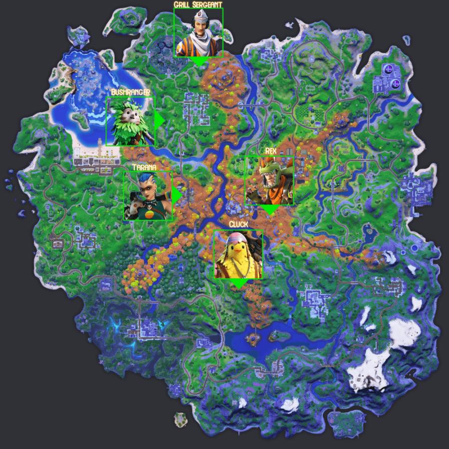 Epic Quest NPC locations C2S6W9