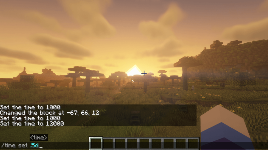 Minecraft Set Time Command.