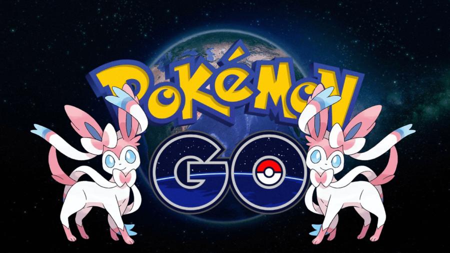 Sylveon next to the Pokemon Go title.
