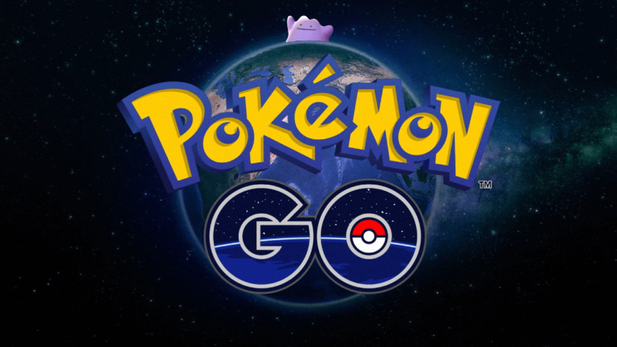 Ditto hiding behind the world in Pokemon Go.