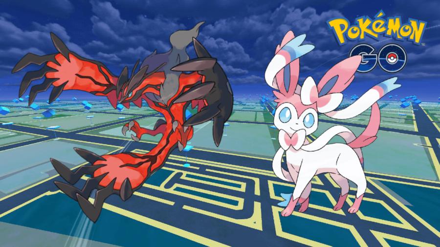 Sylveon and Yveltal in Pokemon Go.