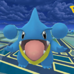 A shiny Gible in Pokemon Go.