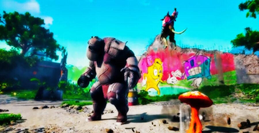 Screenshot of Biomutant gameplay trailer