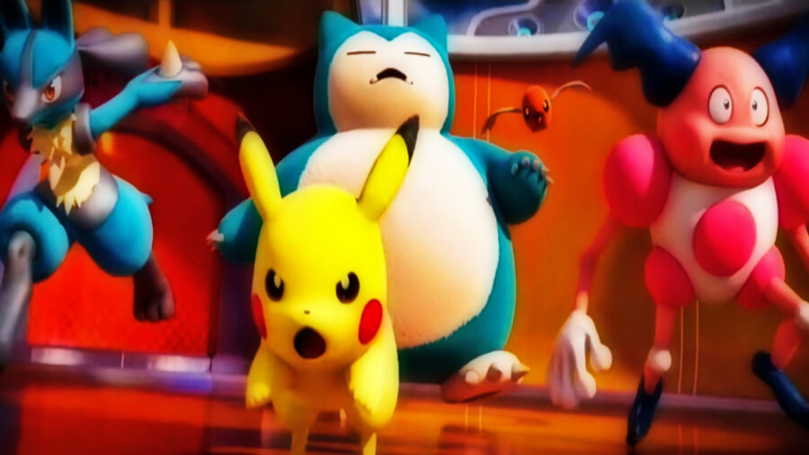 Screenshot of Pokémon Unite gameplay trailer