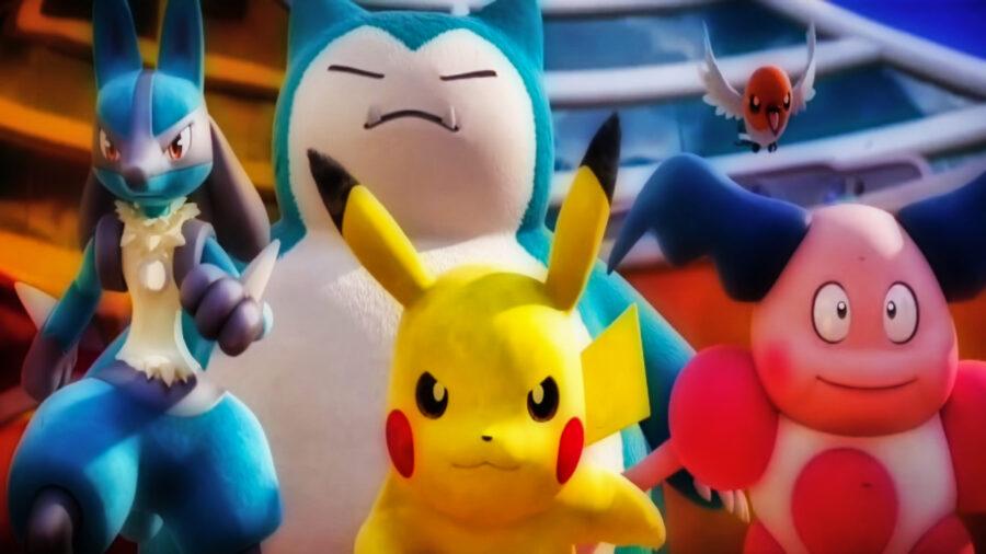 Screenshot of Pokemon Unite trailer