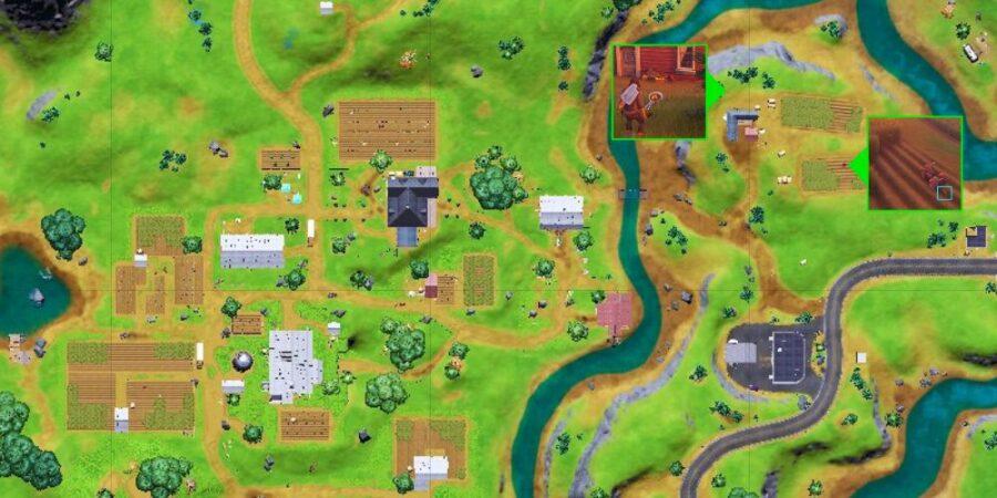 Clue locations on Steel Farm.