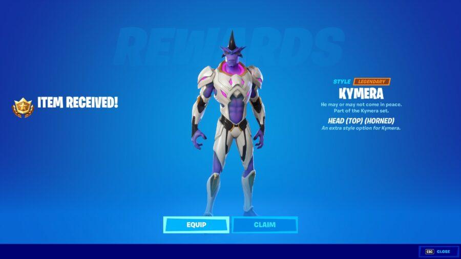 The Claim Reward Page for Kymera.