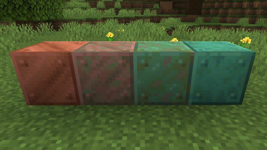 Oxidation in Minecraft.