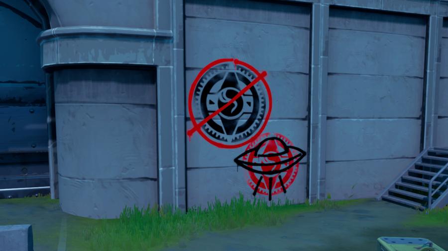 Graffiti Covered wall at REDACTED.