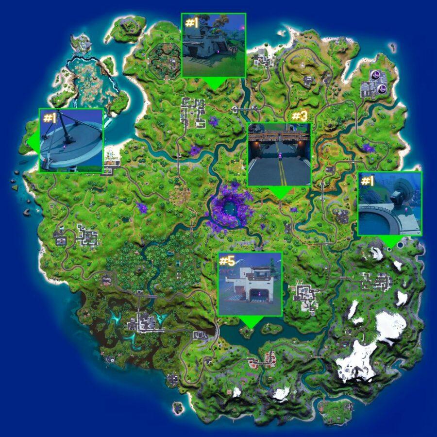 Alien Artifact locations in Fortnite Chapter 2 SEason 7 Week 2.