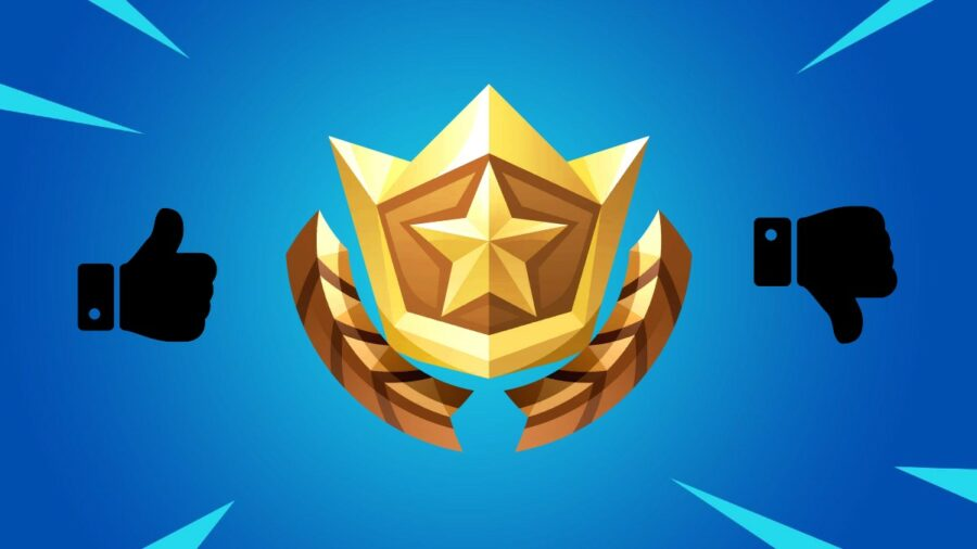 Battle Pass Icon with Thumbs up and Down.