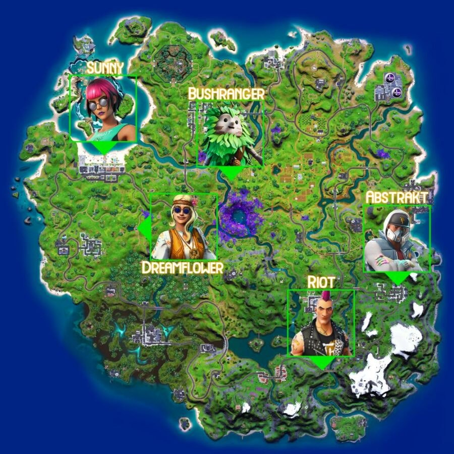 Characters to converse with in Fortnite Legendary Quest C2S7W1