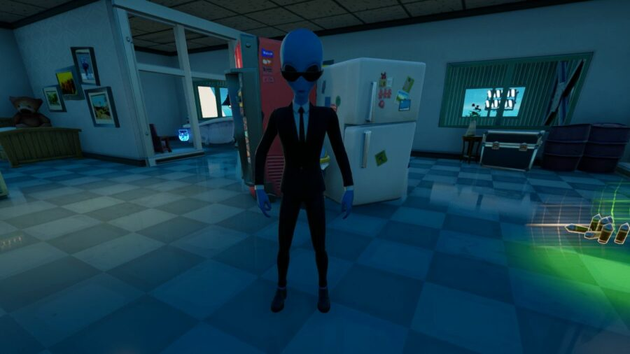 Human Bill standing in Fortnite.