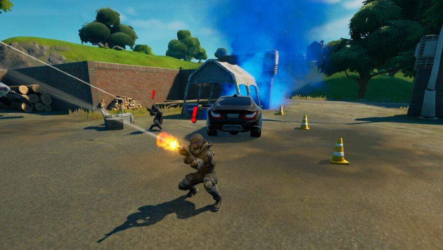 An IO Guard firing in Fortnite.