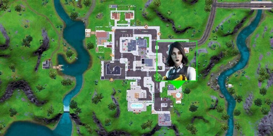 Marigold's location in Fortnite.
