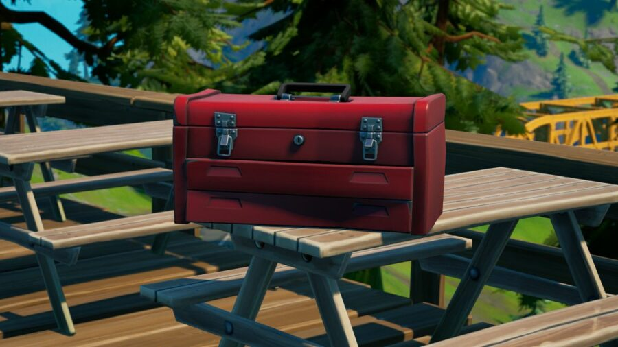 A Red Tool Box in Fortnite