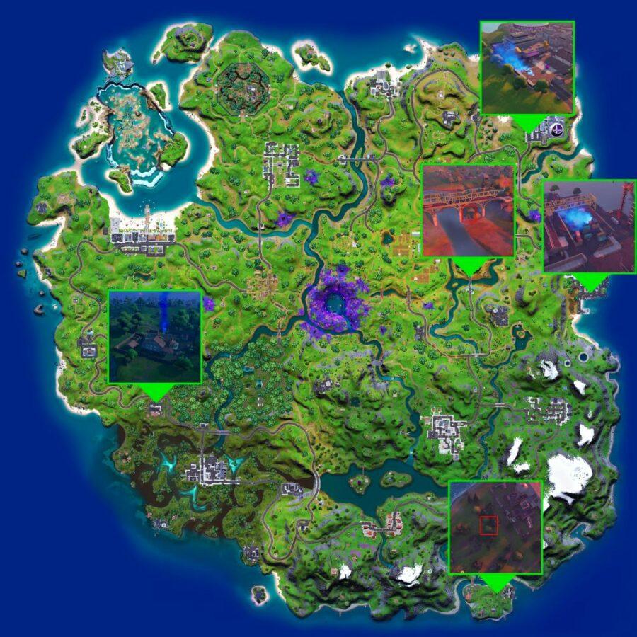 All UFO locations in Fortnite.