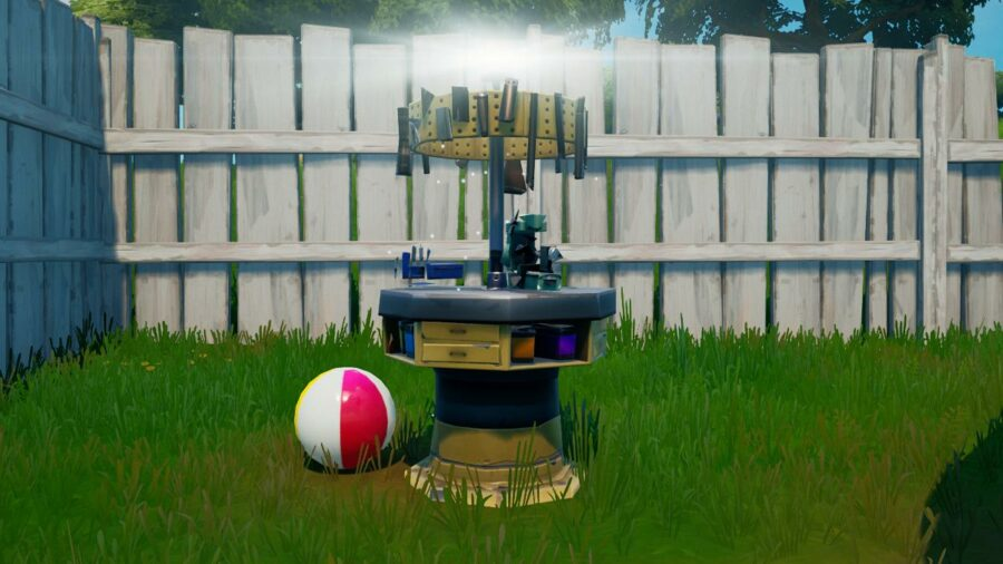 An upgrade bench in Fortnite Chapter 2 Season 7.