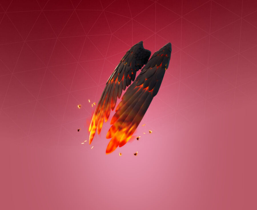 Feathered Flames Back Bling